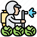 chemicals, crop, fertilizer, pesticide, spraying icon