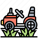 agriculture, farming, harvesting, machinery, tractor icon
