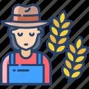 woman, farmer
