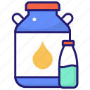 cream, milk, package, pack icon