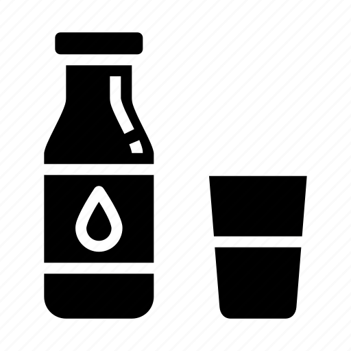 bottle, farm, glass, health, milk icon