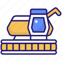 harvester, farming, vehicle, autumn icon