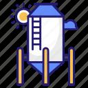 tank, silo, farm, farming, wheat icon