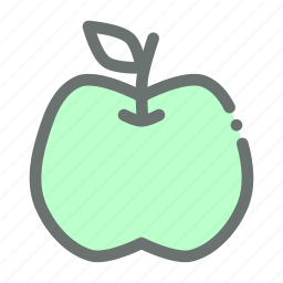 apple, carbohydrate, fruit icon