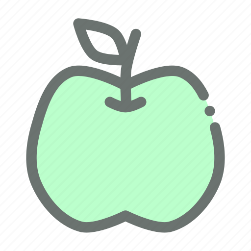 Carbohydrate, fruit, apple icon