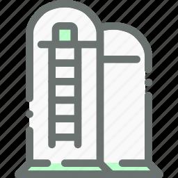 agriculture, barn, farm, silo icon