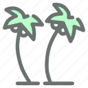 beach, coconut, plantation, trees icon