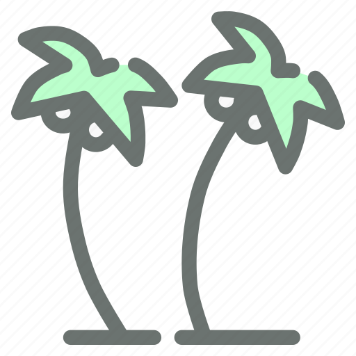 Beach, coconut, plantation, trees icon - Download on Iconfinder
