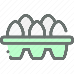 egg, eggs, farm, food, poultry, produce, tray icon
