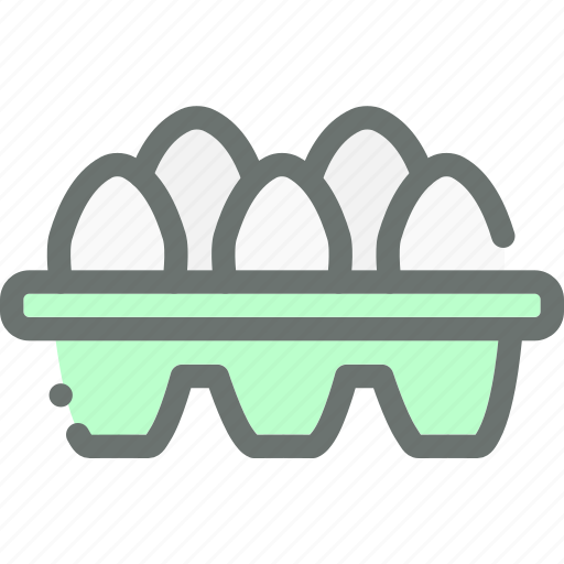 Poultry, farm, egg, eggs, food, produce, tray icon