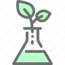 alternate, artificial, dna, gmo, modified, plant, test icon