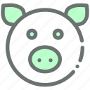 farm, livestock, pig, piggy icon