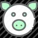 farm, pig, piggy, livestock