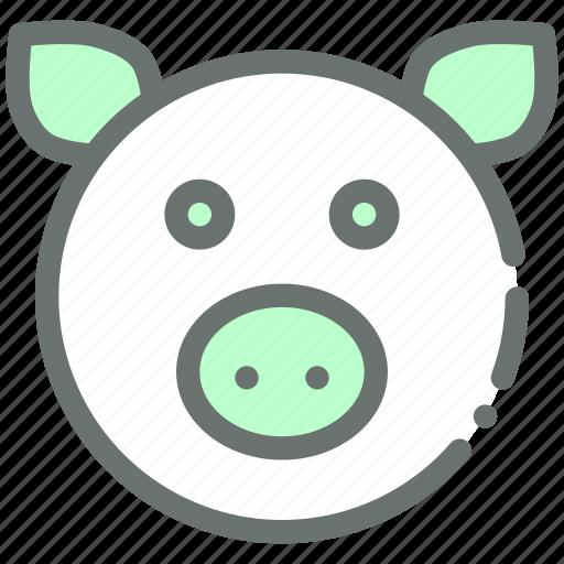 farm, livestock, pig, piggy icon