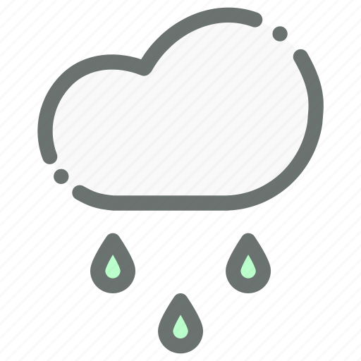 cloud, drizzle, forecast, rain, raining, weather icon