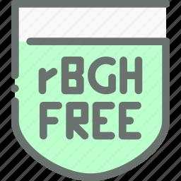 food, free, hormone, natural, organic, rgbh icon