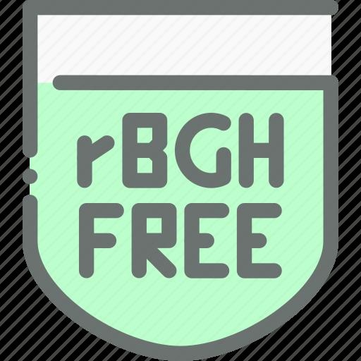 Hormone, natural, food, free, organic, rgbh icon