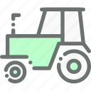 agriculture, farm, farming, tractor, transport, vehicle icon