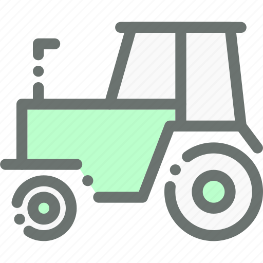 Farm, tractor, vehicle, farming, agriculture, transport icon
