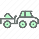 farm, load, transport, truck, vehicle icon