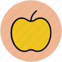 apple, diet, education, fruit, fruit symbol, genus malus, nutrition icon