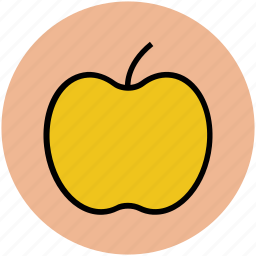 apple, diet, education, fruit, fruit symbol, genus malus, nutrition icon