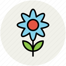 daisy, ecology, flower, flower with stem, nature, sun flower icon