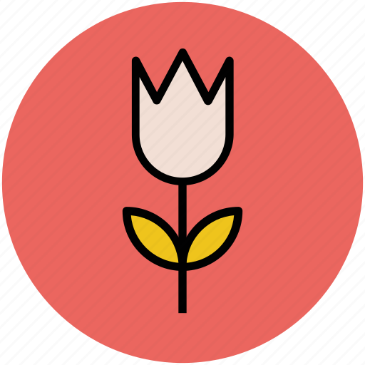 blossom, floral, flower, nature, tulip, tulip bud icon