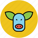 bull face, cattle face, cow, ox face, pig face icon