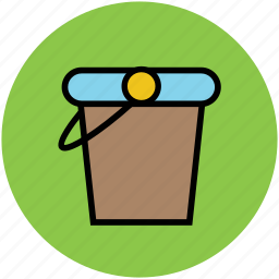 bucket, container, gardening, pail, pot, water bucket icon
