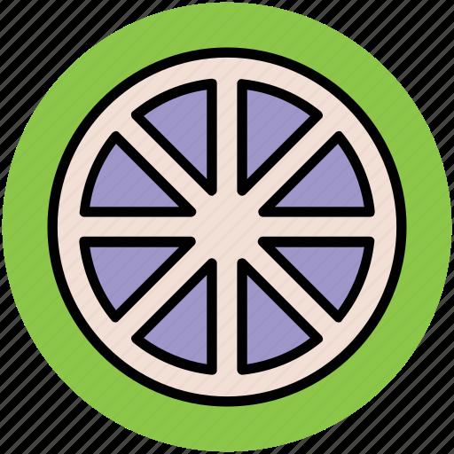 caravan wheel, cartwheel, spoke, wagon wheel, wheel icon