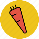 carrot, healthy food, ingredient, organic, root vegetable icon