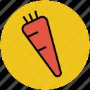 carrot, healthy food, ingredient, organic, root vegetable icon