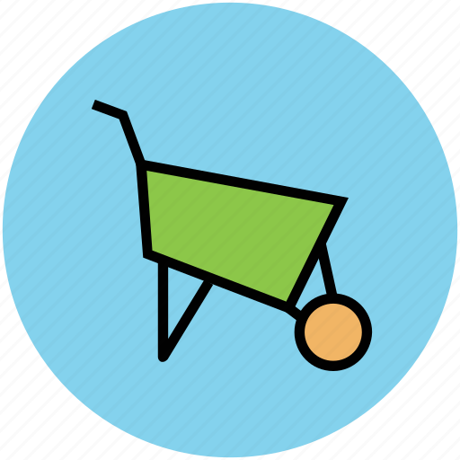 barrow, cart, garden trolley, garden wheelbarrow, wheelbarrow icon