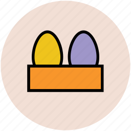 breakfast, egg tray, eggs, food, protein icon