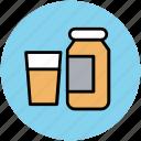 glass and bottle, jar, liquid bottle, medicine jar, milk bottle icon