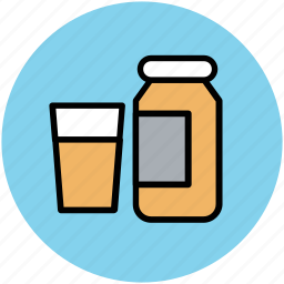 glass and bottle, jar, liquid bottle, medicine jar, milk bottle icon