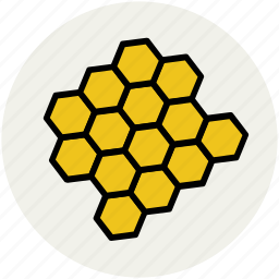 beehive, beeswax, hexagon, hive, honey, honeycomb icon