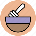 honey bowl, honey dipper, honey pot, honey stick icon