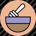 honey bowl, honey dipper, honey pot, honey stick icon