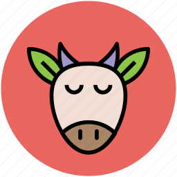 animal, billy goat, goat face, goat head, ram face icon