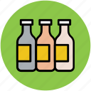 bottles, jar, liquid bottles, medicine jar, milk bottles icon