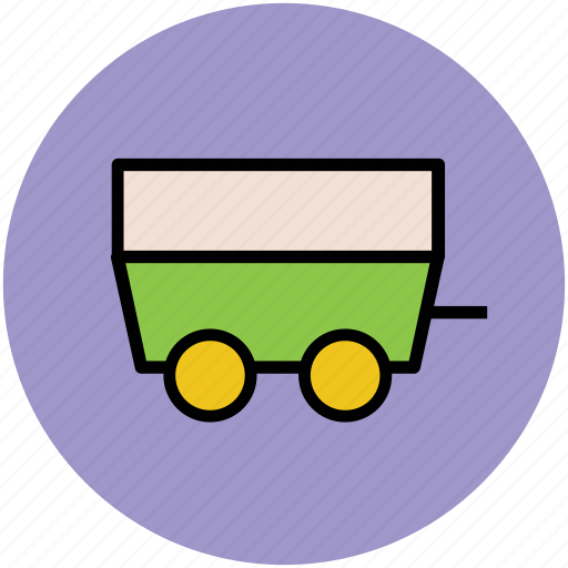 barrow, cart, coal trolley, industrial, mine cart, trolley icon