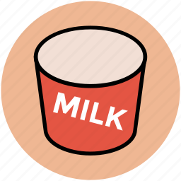 canned milk, dairy product, milk, milk pack, tin icon