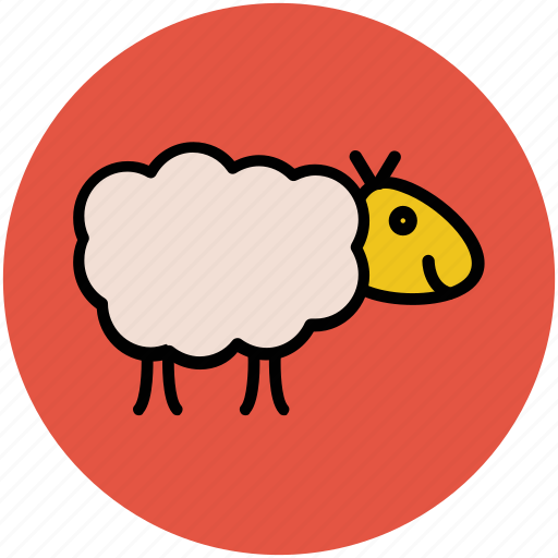 animal, ewe, farm, lamb, mammal, sheep, wool icon