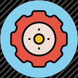 gear, initializing, optimization, setting, wheel icon