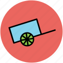 garden trolley, hand barrow, trolley, wheelbarrow icon