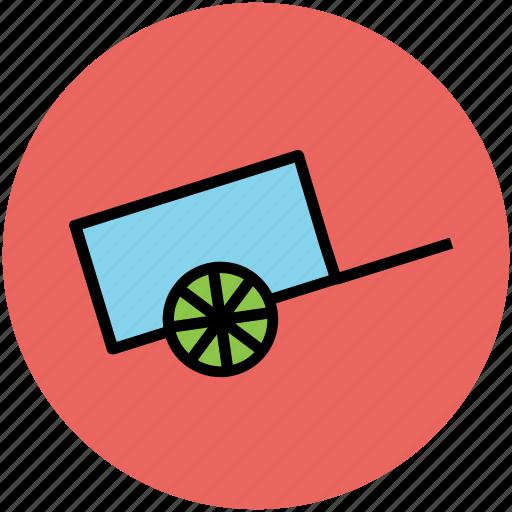 garden trolley, hand barrow, trolley, wheelbarrow icon
