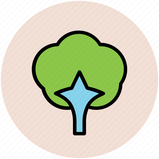 gardening, generic tree, greenery, nature, shrub tree, tree icon