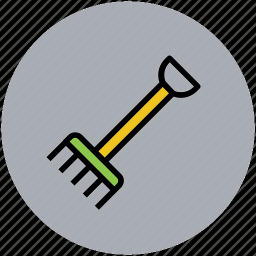 agriculture, farming tool, gardening tool, rakes, shovel rack icon